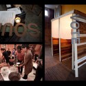 Detroit SOUP,  2010-2011, wood, milkcrates, energy and serving stations. Collaborative project. Photos: Vanessa Miller