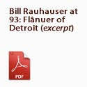 Bill Rauhauser at 93  flânuer of Detroit
